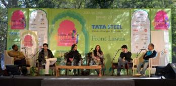 Charu Nivedita at the Jaipur Literary Festival, 2012