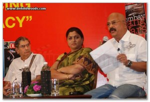 Charu Nivedita at the Outlook Speak Out Debate 2010, Chennai 4