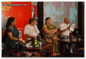Charu NIvedita at the Outlook Speak Out Debate 2010, Chennai