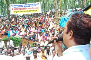 Charu speaks among the Velichikala adivasis