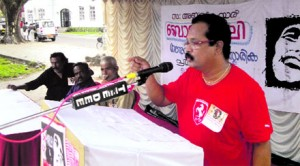 Charu Nivedita delivers the commemoration speech at The Bob Marley Cultural Fest 2010, Kochi