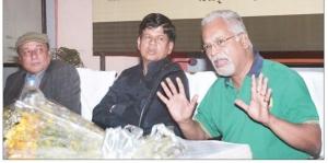 Uday Prakash, Soumya Ranjan Patnaik and Charu Nivedita at Katha 26th Anniversary
